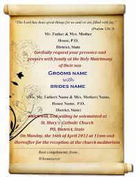 indian wedding invitations cards wedding invitation letter format kerala lovely indian wedding