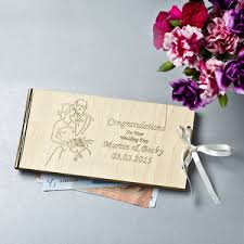 wedding gift or money personalised wooden money wedding gift envelopes by gift