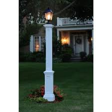 Outdoor Light Post Fixtures by New England Arbors 5 In X 72 In Vinyl Portsmouth Lamp Post