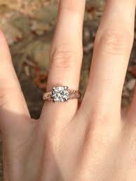 moissanite bridal reviews our forever brilliant moissanite engagement ring weddingbee