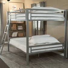Duro Hanley Full Over Full Bunk Bed Silver Hayneedle - Size of bunk beds