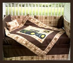 Tractor Crib Bedding Sale Custom Made New 7 Deere Brown Plaid Tractor Crib