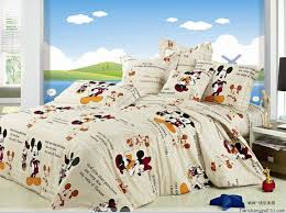 Mickey Duvet Cover Discount Mickey Minnie Beige Bedding Set For Teens Kids Reversible
