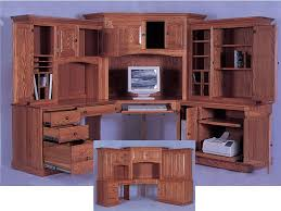 Free Corner Desk Woodworking Plans by Brilliant Corner Office Desk With Hutch Workstation White