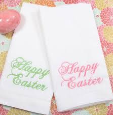 easter napkins happy easter napkins script embroidered cloth set of 4