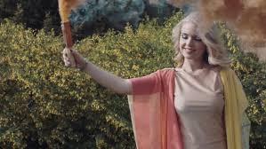 beautiful blonde woman smoke forest vipchuma