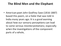 3 Blind Men And The Elephant Blind Men And The Elephant