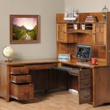 Light Wood Computer Desk Furniture Modern Stylish Corner Computer Desk With Hutch Design