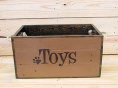 dog toy box cat pet toybox hand crafted wooden toy tidy