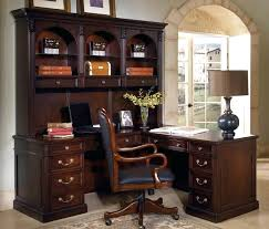 Executive Desk With Hutch Iris Mission Style Executive Desk