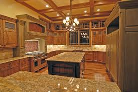 architecture modern kitchen design with l shaped brown wooden