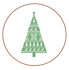 modern christmas tree cross stitch pattern christmas ornament home