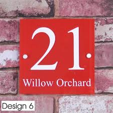 plaque numero rue personalised house sign door number street address plaque glass