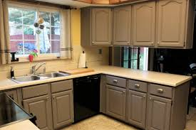 Painting Old Kitchen Cabinets Before And After Grey Painted Kitchen Cabinets Ideas Paint Painters For Best Brand