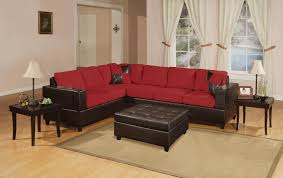 Red And Black Living Room by Cozy Red And Black Sectional Sofa 70 About Remodel Pink Sectional