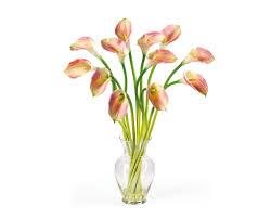 silk calla lilies artificial calla lilies pink 12 silk flowers