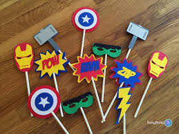 marvel cake toppers die cut cupcake toppers marvel inspired