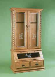 free gun cabinet plans with dimensions american whitetail gun cabinet with optional deer design cabinet