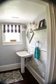 Design Your Own Bathroom Remodelaholic Complete Bathroom Remodel With Marble Subway Tile
