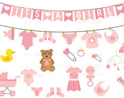 girl baby shower baby shower clipart etsy