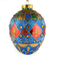 glass balls tree ornaments carnaval faberge glass egg