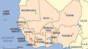 Africa Map With Capitals by West Africa Map Youtube
