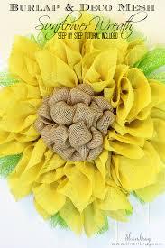 burlap sunflower wreath shambray