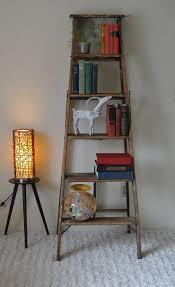 Leaning Bookshelf Woodworking Plans by Best 25 Wooden Ladder Shelf Ideas On Pinterest Old Ladder Shelf