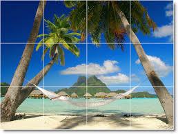 beach scene wall tile mural b103 loading zoom