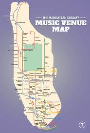 Manhattan Map Subway by The Manhattan Subway Music Venue Map Thrillist