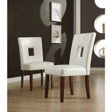 home decorators collection white faux leather side chair set of 2