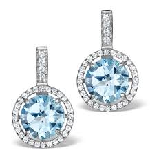 white topaz earrings blue topaz and white topaz earrings in sterling silver ug3244