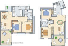 building scheme simple 3d house plan with one bedroom with
