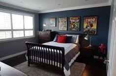 awesome grey red wood modern design boys bedroom kids blue themed