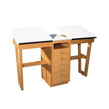Drafting Table Top Material Shain A Frame Two Station Drafting Table Reviews Wayfair