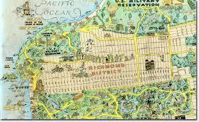 san francisco map for tourist 1927 tourist map highlights neighborhood landmarks richmond
