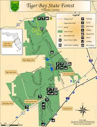 Florida State Parks Map Tiger Bay State Forest Maplets
