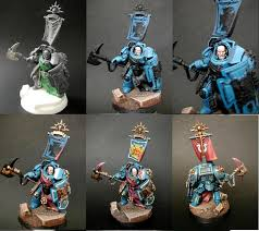 warhammer 40k ultramarines space marines step by step painting example tips for
