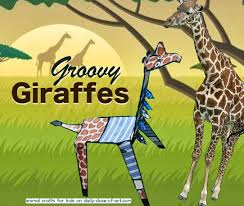animal crafts for kids 2 groovy giraffes daily dose of art