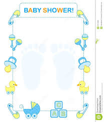 Babyshower Invitation Cards Template Blank Baby Shower Invitations