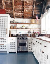 Coastal Cottage Kitchens - coastal cottage chic open shelving wood paneling walnut