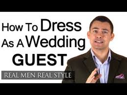 how a male guest should dress for a wedding engagement party