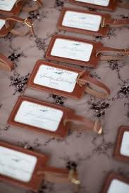 wedding favor luggage tags leather luggage tag wedding favor the quote some roads are