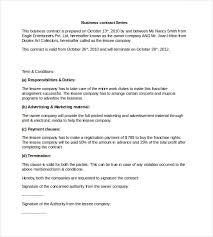 sample business contract template word format 23 simple