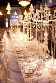 Non Flower Centerpieces For Wedding Tables by Inviting Party Dining Table Décor Ideas Crystals Garlands And
