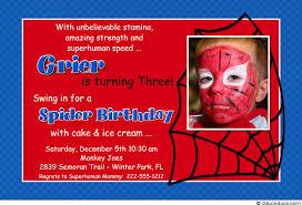 spiderman birthday invitations with photo gallery invitation