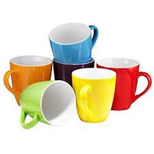 coffee mug set set of 6 large sized 16 ounce ceramic