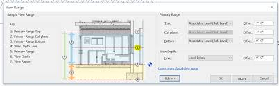 revit tutorial view range solved problem view level with inclined floor autodesk community