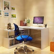 High Computer Desk New Siena White High Gloss Computer Desk Shelves Rotate 120 X 75