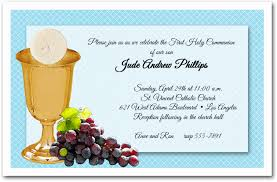 communion invitations chalice wafer grapes boys communion invitations
